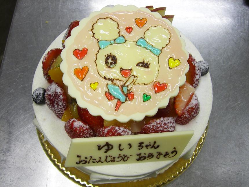 ★キャラクターケーキ+ホワイトチョコレートプレート